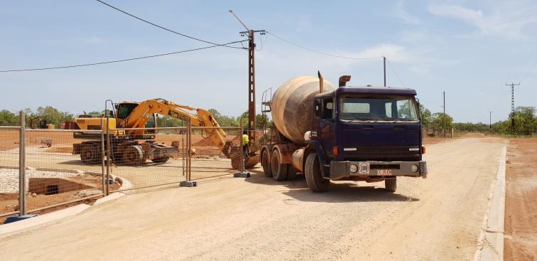 Unloading the truck